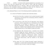 Notification of Amendment in Supplementary Rules by Finance Division