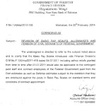 Notification of Basic Pay Scales 2011 & Adhoc Allowances to the Contingent Paid Staff and Contract Employees