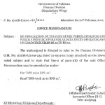 Re-Designation of the Post of Key Punch Operator & Up-gradation