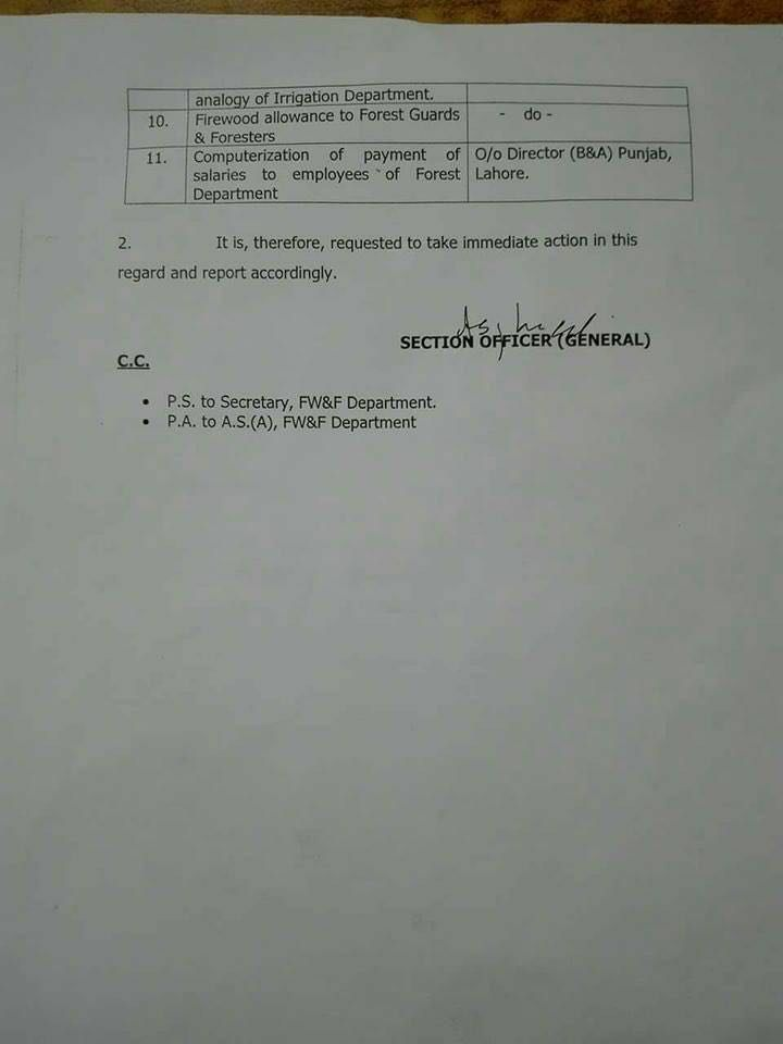 Demand of Forest Guards Forestry