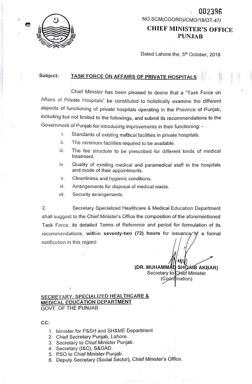 Task Force on Affairs of Private Hospitals