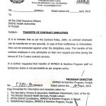 Notification Regarding Transfer of Contract Employees