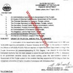 Notification of M.Phil Allowance to All the Punjab Govt Employees