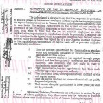Notification of Protection of Pay of Contract Employees on Regularization/Appointment on Regular Basis