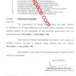 Notification of Minimum Pension 2013 by Khyber Pakhtunkhwa Govt