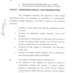 Recruitment Policy 2013 for Science & Arts Educators