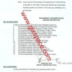 Notification Copy of Revised Leave Encashment for 365 Days Punjab Govt