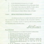 Imposition of Ban on Transfers Punjab School Education Department
