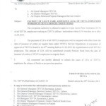 Notification of Payment of Leave Fare Assistance (LFA) to TEVTA Employee
