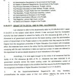 Notification of Clarification of Ph.D/D.Sc and M.Phil Allowance