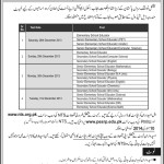 NTS Tests Schedule for Educators Recruitment
