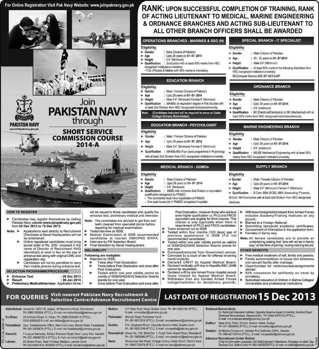 summary article name join pakistan navy through short service
