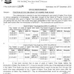 Notification of Fixation of Pay on Grant of Higher Time Scale