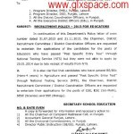 Recruitment Policy 2013 for Educators