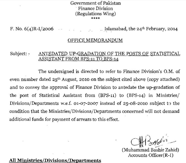 Upgradation Statistical Assistants