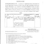 Conditions for Appointment in Respect of the Post of Statistical Officer (BPS-17)