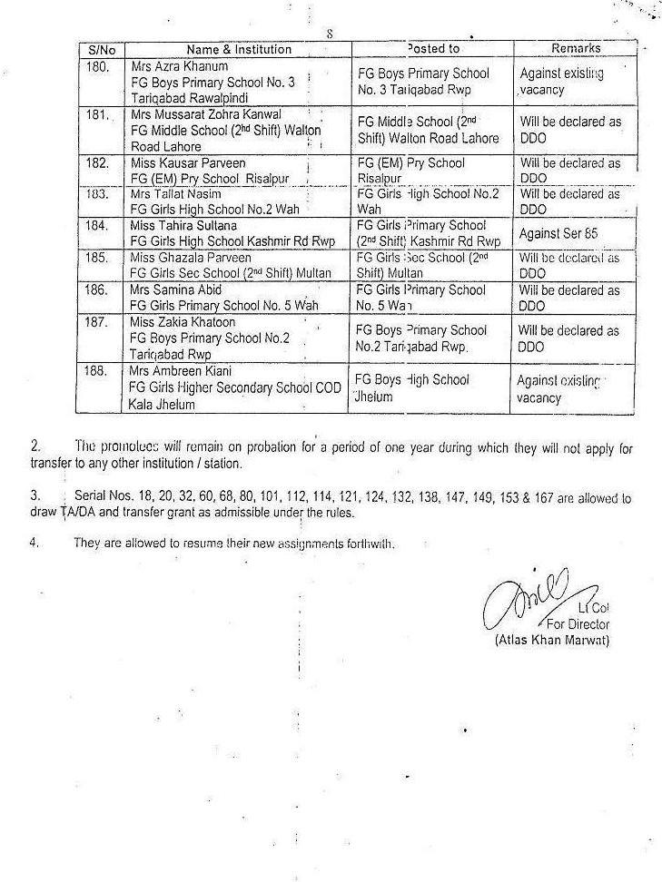 Notification for Promotion 8