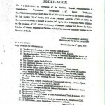 Notification of Public Holiday on 4th April 2014 in Sindh