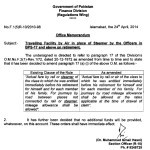 Notification of Traveling Facility by Air in Place of Steamer by the Officers of BPS-17 & Above On their Retirement