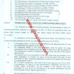 Notification of the Promotion of the Lower Grade Employees of Punjab