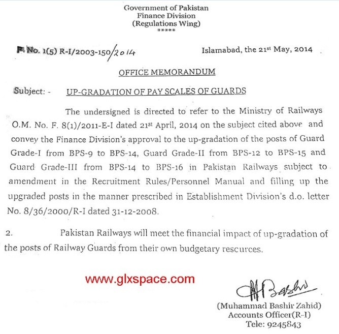 Railway Guards Upgradation