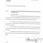 Notification of Reallocation of All Teaching Posts in Toba Tek Singh