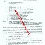 Finance Department Punjab has Issued Notification of Adhoc Relief Allowance 2014 Conveyance Allowance & Medical Allowance