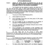 Finance Division Has Issued Notification of Adhoc Relief Allowance 2014 & Increase in Medical and Conveyance Allowance