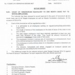 Grant of Honorarium Equivalent to One Month Basic Pay to WAPDA Employees & Bonus to MEPCO Employees