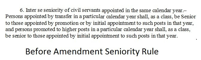 Old Orders Seniority