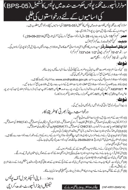 Police Constables Vacancies