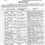 Transfer Posting of Associate Professors of Education Department Sindh