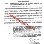 Upgradation of Technical Assistant & Field Enumerator from BPS-11 to BPS-14