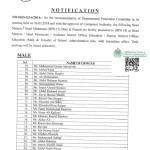 Notification of Promotion of Headmasters & Subject Specialists of Education Department Sindh