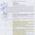 Study Leave Notification by Punjab Govt