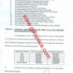 Notification of Financial Assistance to the Family of a Civil Servant of Punjab Who Die during Service