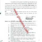 Notification of Upgradation of Superintendents to the Offices of District and Sessions Judges in the Punjab