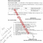 Notification of Winter Vacations by Higher Education Department Punjab