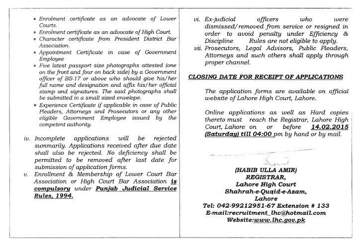 Vacancies Civil Judge