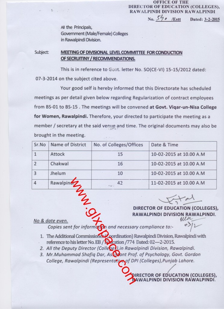 Contract Employees Regularization