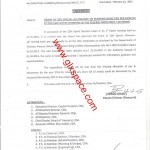 Notification of 20% Special Allowance by CDA