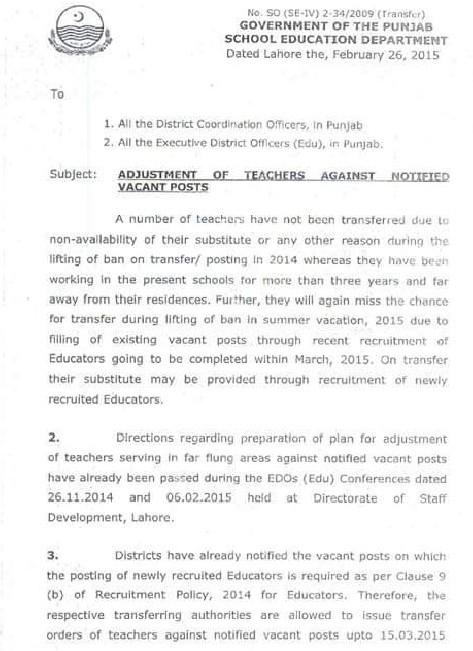 Adjustment of Teachers