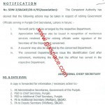 Notification Regarding Farewell Party & Issuance of Identity Card in Respect of Retiring Official