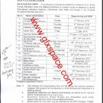 Notification of Holidays 2015 by Higher Education Department Punjab