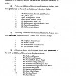 Notification of Promotion of Judges-Notification Issued by Lahore High Court Lahore
