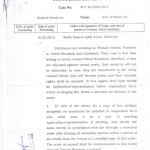 Decision of the LHC Regarding Seniority of PSTs (Primary School Teachers)