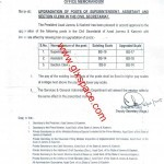 Notification of Upgradation of Superintendent/Assistant/Section Clerk in AJK