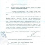 Notification of Usage of Takhti/Slate from Class 1 to 3 in Primary Schools