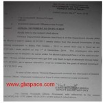 Notification Regarding Annual Increment as on 01-12-2011 for Contract Employees
