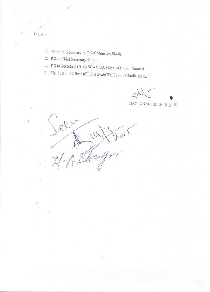 Demands APCA Sindh